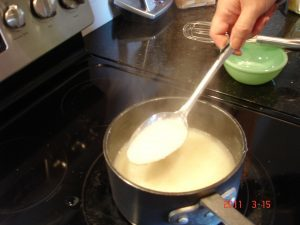Creamy grits on stovetop