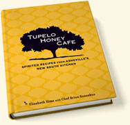 Cookbook review:  Tupelo Honey Cafe, Spirited Recipes from Asheville's New South Kitchen (Recipe: Sweet Potato Pancakes with Peach Butter and Spiced Pecans)