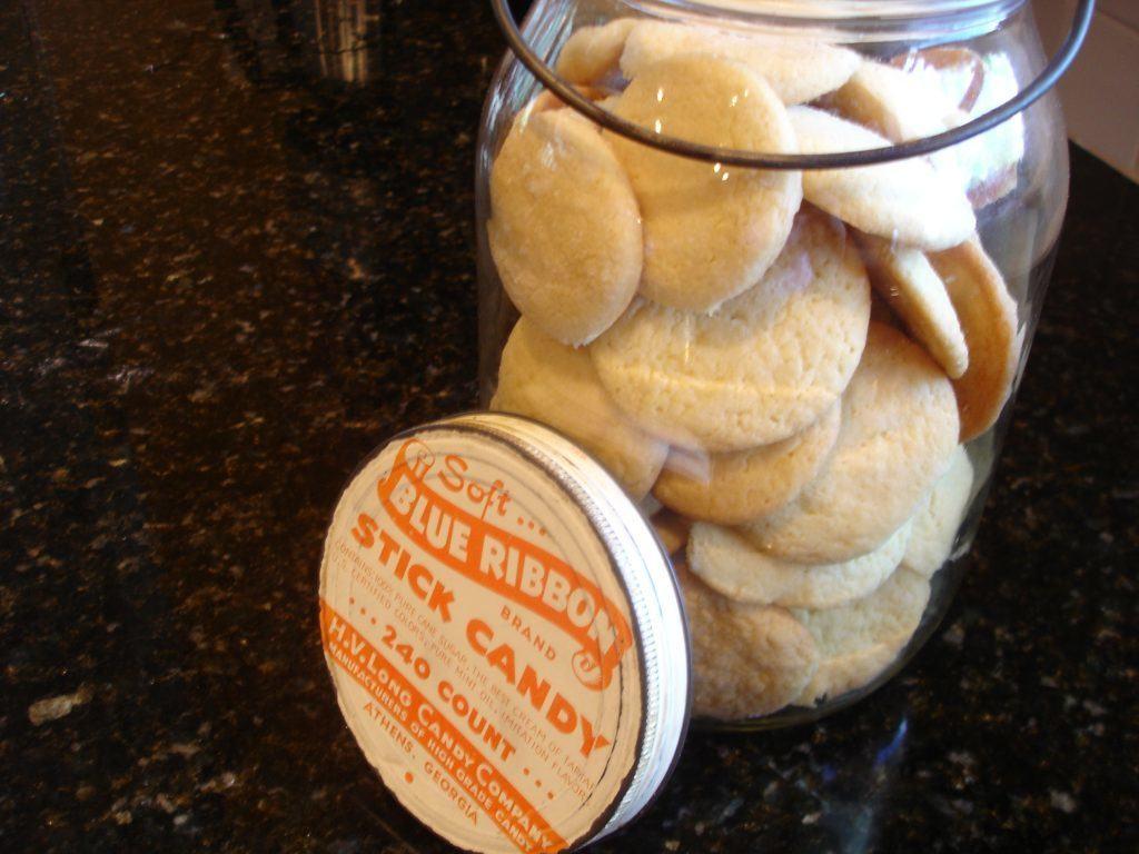 Southern Tea Cakes in cookie jar.