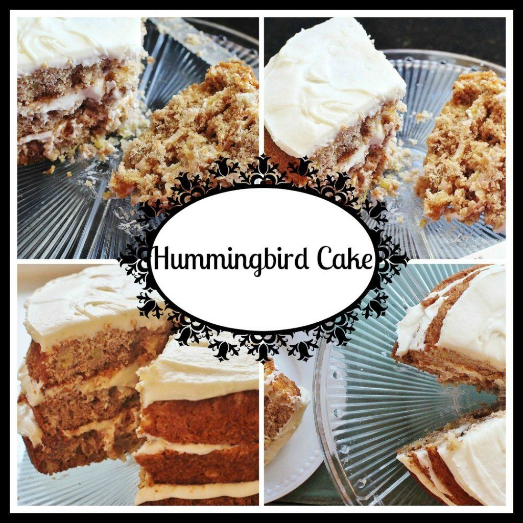 Hummingbird Cake. A spice cake with bananas, pineapple and pecans and cream cheese icing. Southern Living's most requested recipe.