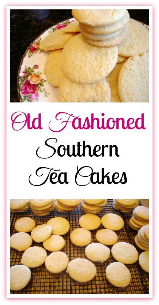 Southern Tea Cakes on plate and baking sheet.