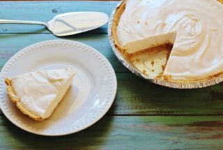 Pink Lemonade Pie. A no-bake, three ingredient pie in a premade graham cracker crust.