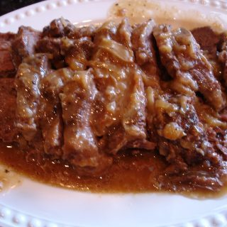 Smothered Beef Roast with Onion Gravy