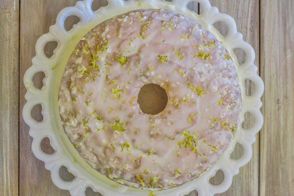 Lemon Pound Cake with Lemon Glaze. A silky smooth texture with fresh lemon flavor and finished off with lemon glaze.