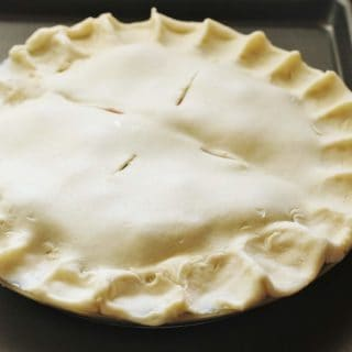 Double-crust Butter Pie Crust. Makes a top and bottom crust for a 9-inch pie or crusts for two 9-inch pies. #pie #crust #butter