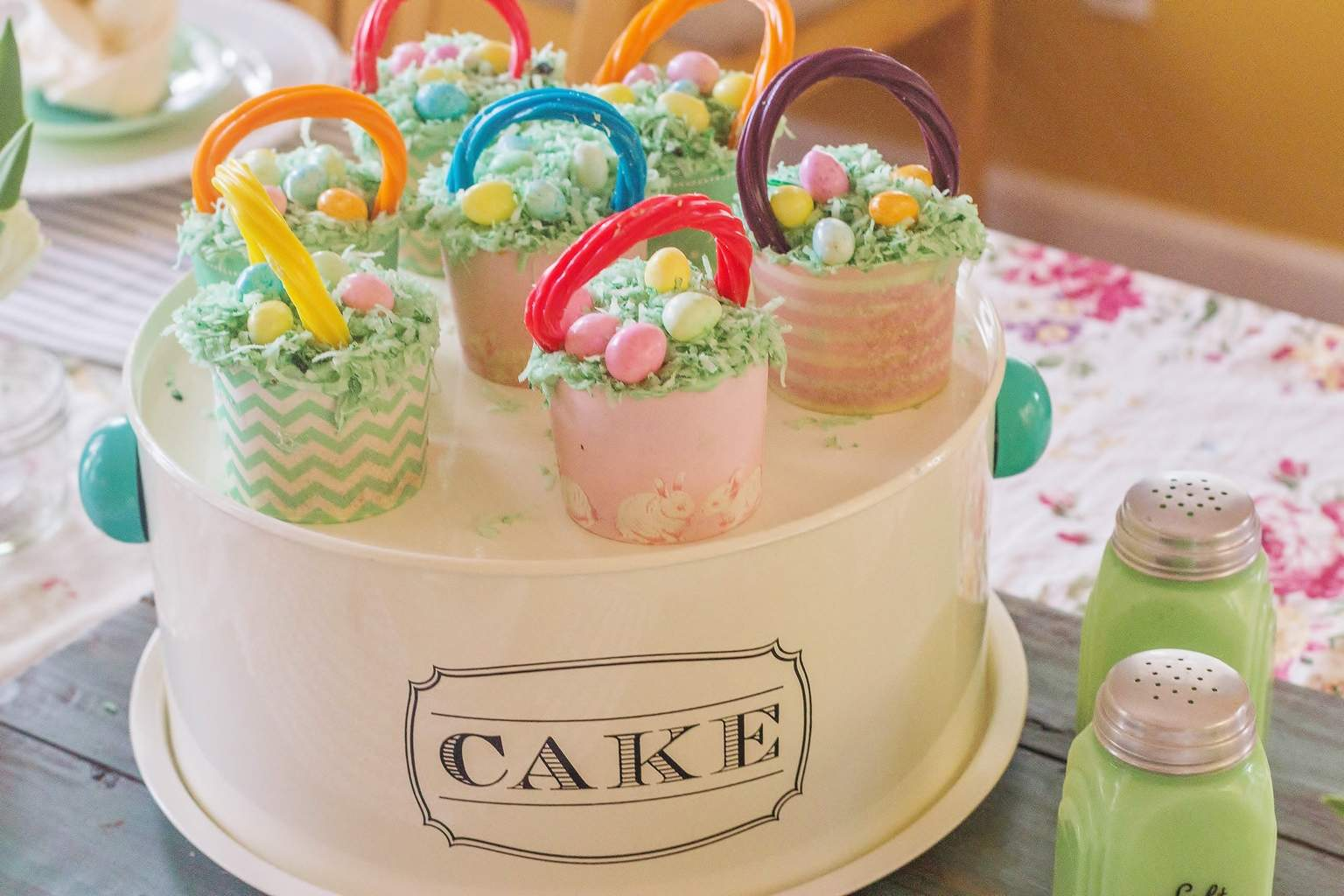 Easter Basket Buttermilk Cupcakes