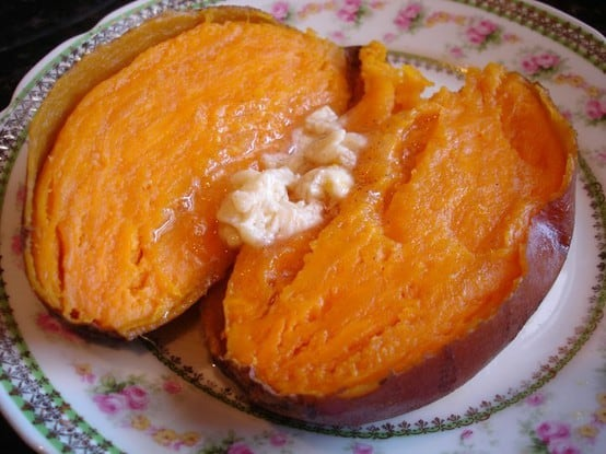Baked Sweet Potatoes with Honey Cinnamon Butter