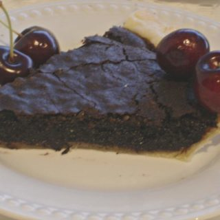 The One and Only Chocolate Pie (recipe:  Chocolate Fudge Pie)