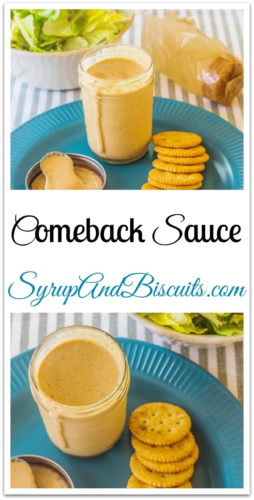 The sauce that's served by the steak house chain made famous by the onions that bloom, is reminiscent of Comeback Sauce.  Chances are you've had it on a burger or sandwich at a new age sandwich shop.  It's a versatile sauce that also makes a great salad dressing. #ComebackSauce #VersatileSauce