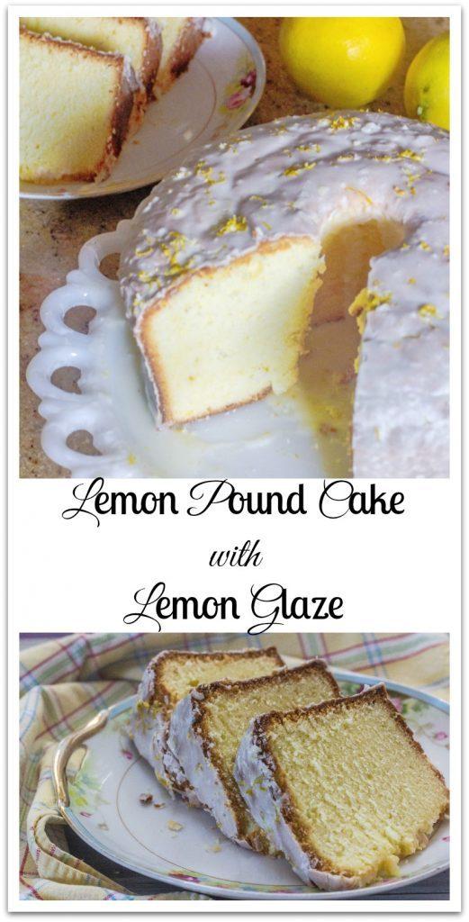 Lemon Pound Cake with Lemon Glaze. A silky smooth texture with fresh lemon flavor and finished off with lemon glaze.