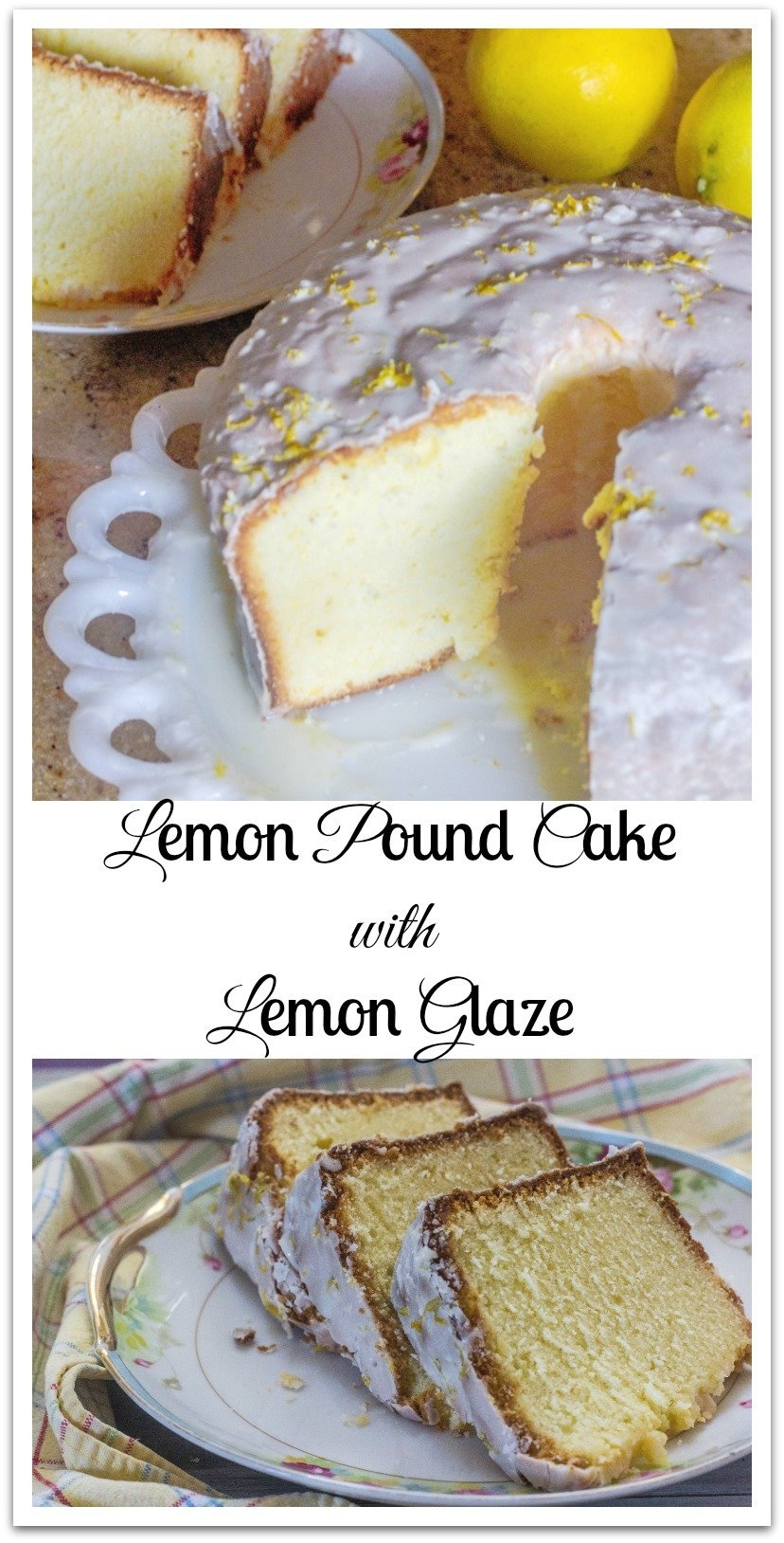 "This Lemon Pound Cake with Lemon Glazedidn't disappoint. It is lemony andlusciousand moist. Very ""lemon-drop"" like in taste. #LemonCake #LemonGlaze"