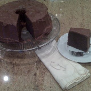 Chocolate Pound Cake with Chocolate Fudge Icing