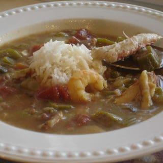 A Familiar Cuisine (recipe:  Seafood Gumbo)