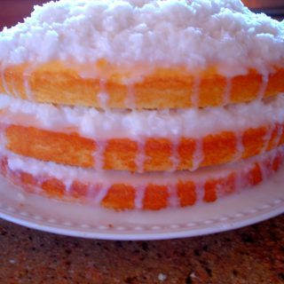 Coconut Cake with Sour Cream Filling