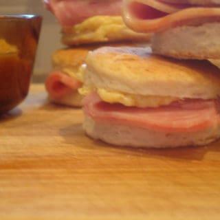 Heart Medicine (recipe:  Ham Biscuits with Honey Mustard Butter)