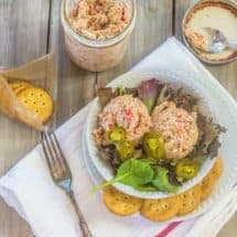 Ham Salad is a great way to use up leftover fully cooked ham. Mix ground ham and boiled eggs with a simple dressing made of mayonnaise, sweet pickle relish, and pimentos.