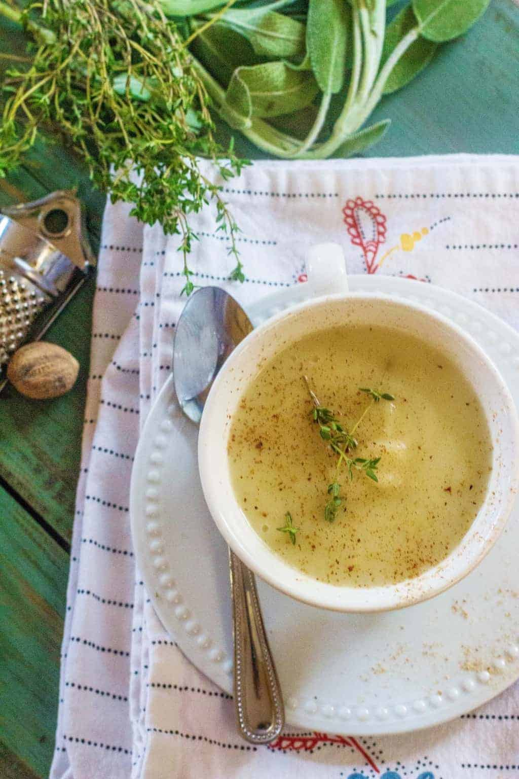 Creamy Turnip and Potato Soup