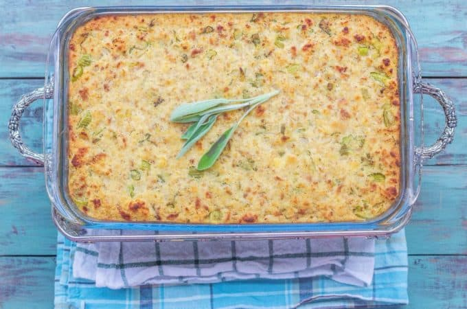Old Fashioned Cornbread Dressing. Lots of fresh onions, celery, and sage with cornbread and sage onion biscuits.