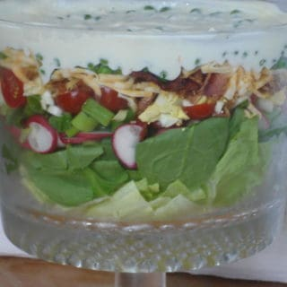 7 Layer Salad with 9 Layers