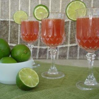 Strawberry Limeade Sparkling Cooler