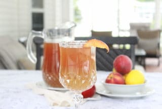 Ginger Peach Sweet Ice Tea