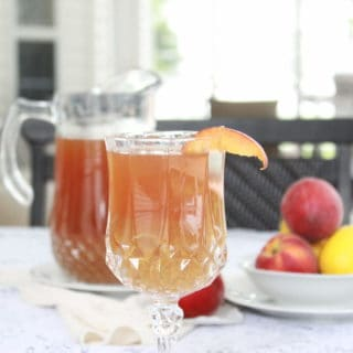 Ginger Peach Sweet Ice Tea