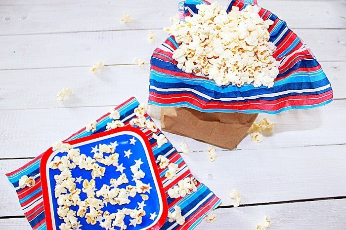 All-American Snack (Recipe: Homemade Microwave Popcorn)