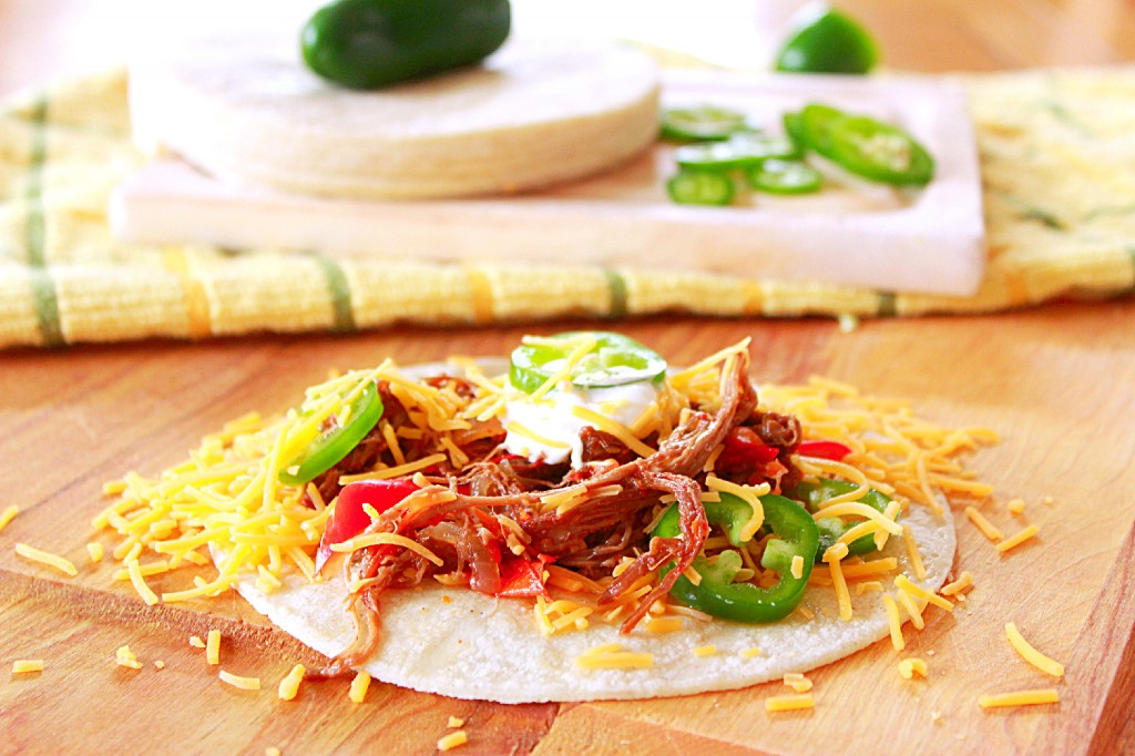 Flank Steak Slow-cooker Fajitas