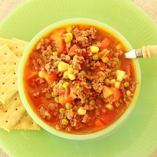 Lunchroom Ladies (Recipe: School Lunchroom Hamburger Soup)