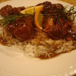 orange and rosemary braised pork shanks