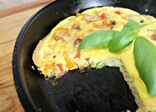 Bacon Onion Pepper Fritatta ~ Syrup and Biscuits