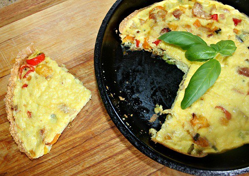 Frittata with bacon, onion, pepper ~ Syrup and Biscuits