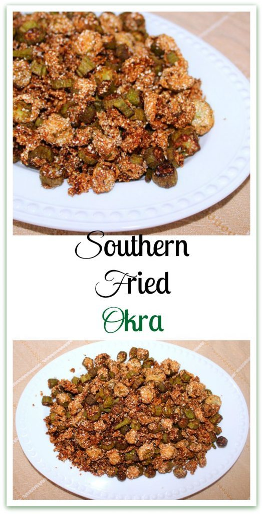 Southern Fried Okra. Cut okra soaked in buttermilk, lightly battered in cornmeal and fried in a cast iron skillet.