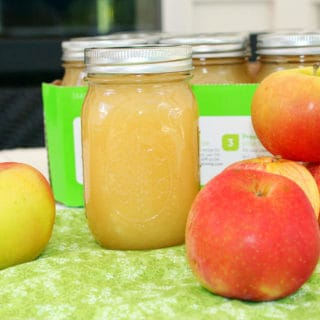 Homemade Applesauce. Recipe for applesauce along with canning instructions and an apple weights and measures chart.