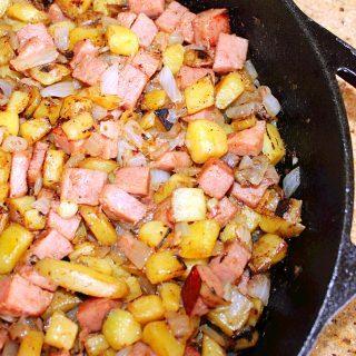 SPAM vs. Spam (Recipe: SPAM and Potato Hash)