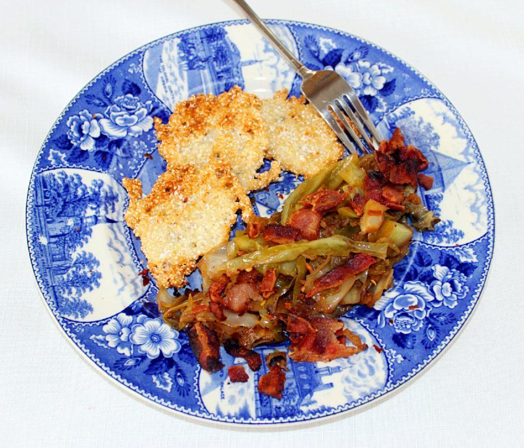 Skillet Fried Cabbage on plate.