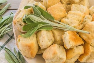 Sage Onion Biscuits are a great addition to the buttermilk cornbread in Traditional Buttermilk Cornbread Dressing. Sage, onion, garlic and black pepper also create a dinner biscuit  that goes well along side poultry and pork.
