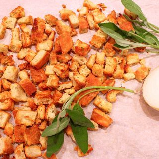 A Special Touch(Recipe: Sage Onion Biscuits and  Croutons)