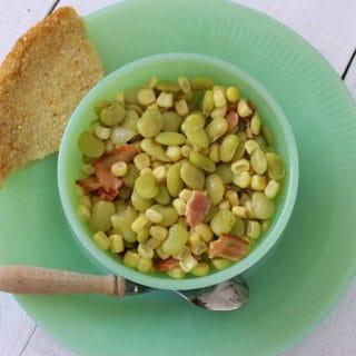 Succotash. A simple dish of corn and baby limas.