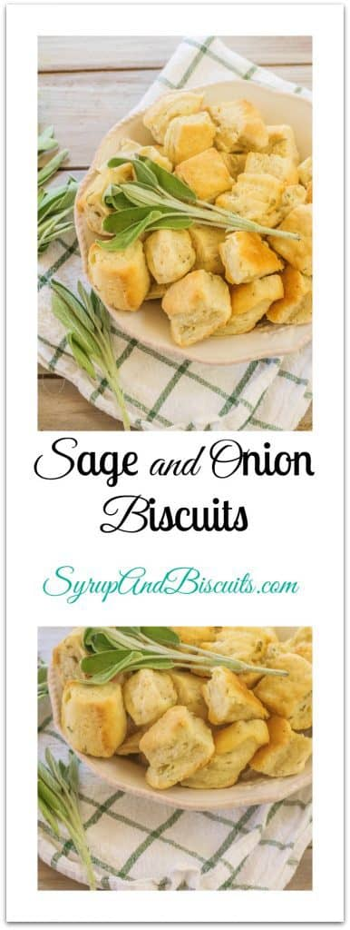 Sage Onion Biscuits in bowls.