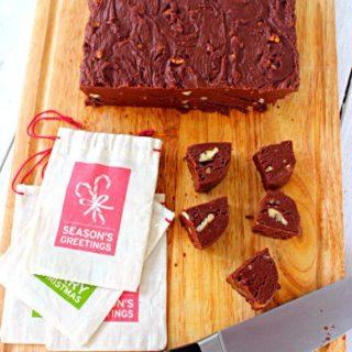 Chocolate Fudge with Pecans. A creamy, easy to make fudge recipe using marshmallow cream.