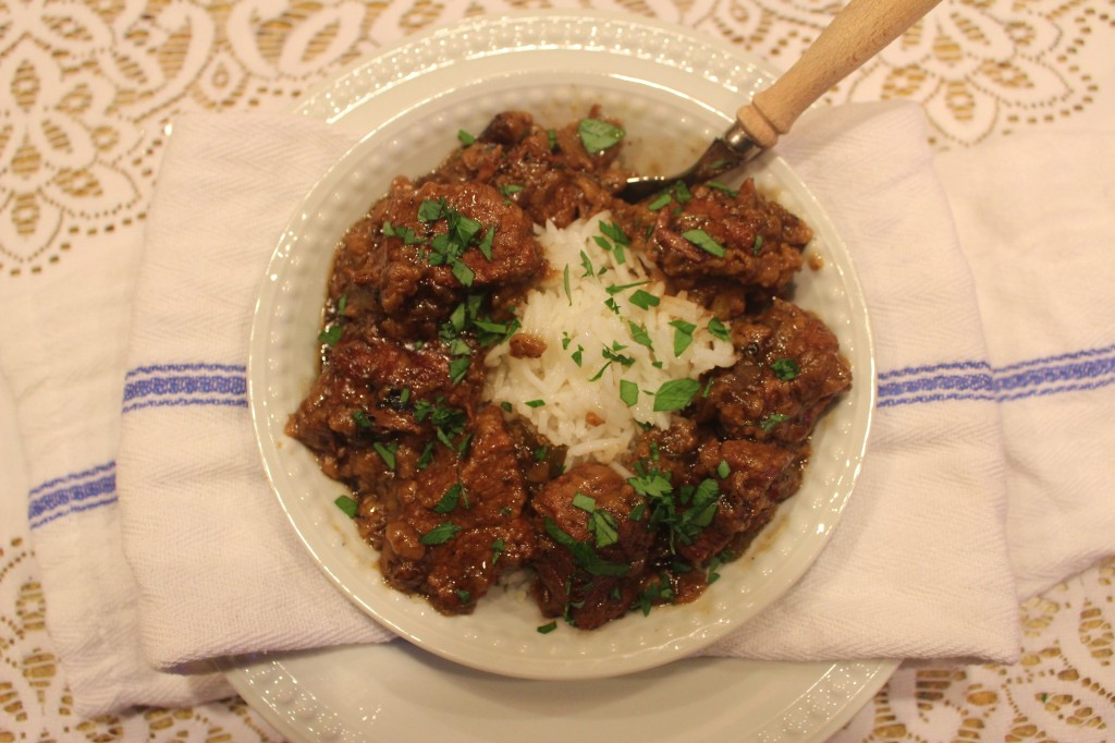 Stewed Beef ~ Syrup and Biscuits