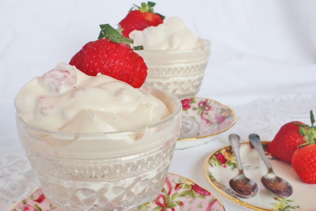Strawberry Fool ~ Syrup and Biscuits