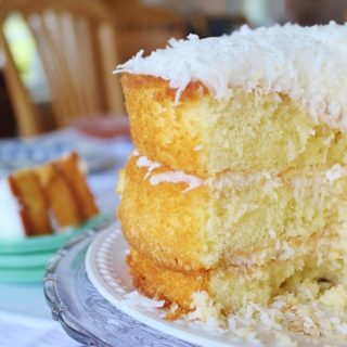 1-2-3-4 Cake with  Coconut Sour Cream Filling