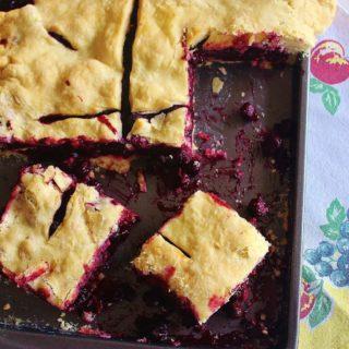 Blueberry Slab Pie/Martha and I Made a Pie