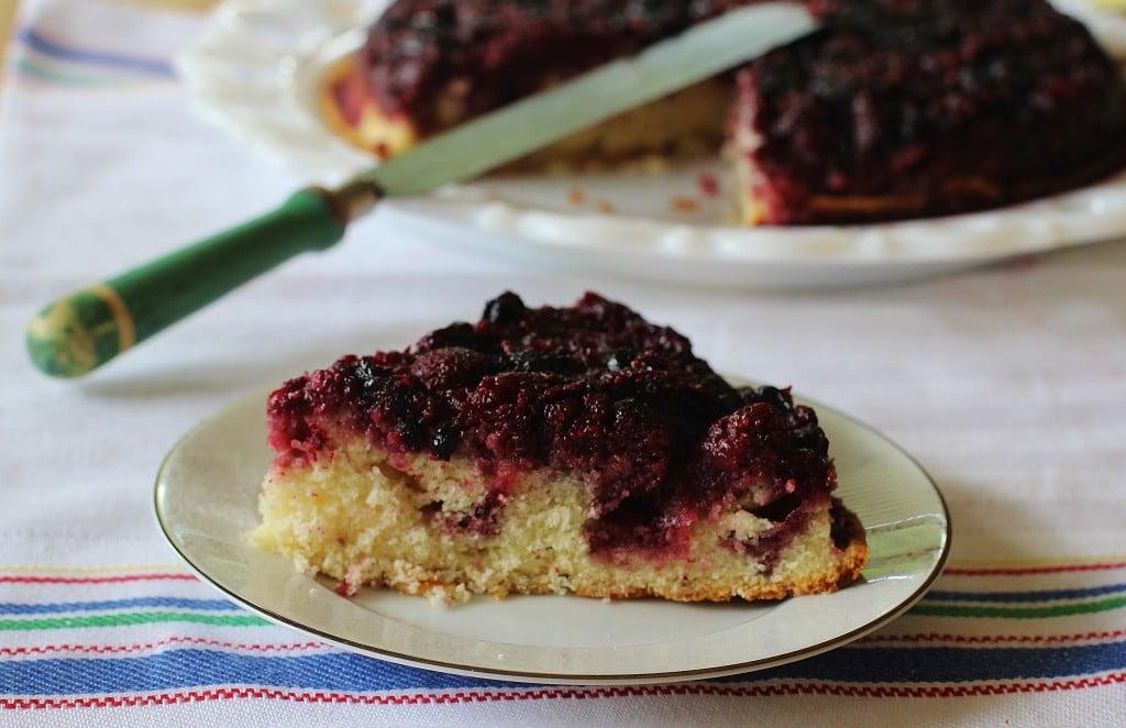 Triple Berry Upside Down Cake #berry #upside #down #cake #southernfood
