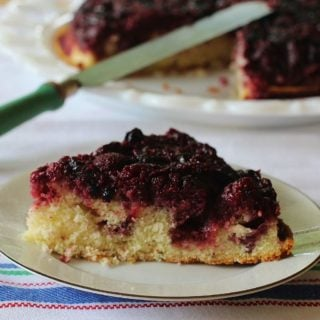Triple Berry Upside Down Cake