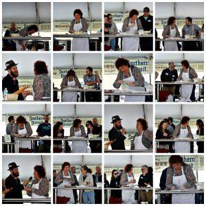 Jackie Garvin having a blast at International Biscuit Festival 2014. Second place winner.