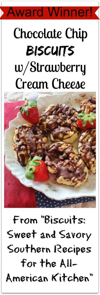 Chocolate Chip Biscuits with Strawberry Cream Cheese Filling