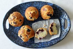Blueberry Buttermilk Muffins. Made with buttermilk, cream cheese, butter and fresh picked blueberries. #blueberry #muffins #southernfood #southern
